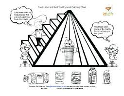 Small Picture Food Pyramid Coloring Pages For Preschool Guide A To Daily Page