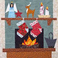 Free Quilt Block Patterns paper applique traditional pieced ... & Christmas Hearth Paper-Pieced Quilt Pattern at Paper Panache Adamdwight.com