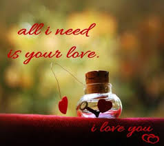 all i need is your love whatsapp dp