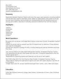 Daycare Assistant Resume Fresh Teacher Assistant Resume Example