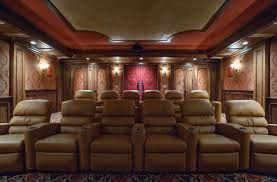 home theater upholstered fabric walls