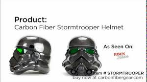 carbon fiber stormtrooper helmet as seen on pawn stars youtube