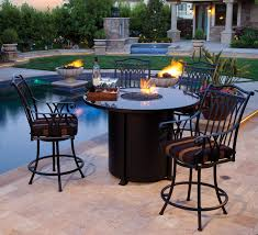 innovative high top wicker patio set gorgeous outdoor