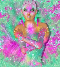 Barevné Abstraktní Krásná Móda žena Make Up Dlouhé řasy S Krátký