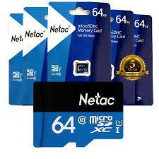 THẺ NHỚ NETAC 64GB, CHUẨN CLASS 10, UHS - I, TỐC ĐỘ CAO 90MB/S, CHÍNH HÃNG  - Vi Tính Phát Đạt
