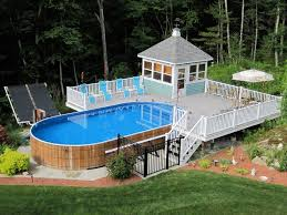 above ground pool with deck attached to house. Small Deck For Above Ground Pool - Ideas \u2013 LawnPatioBarn.com With Attached To House O