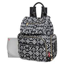 Fisher-Price Shiloh Diaper Bag Backpack - Southwest Print Black ... & Fisher-Price Shiloh Diaper Bag Backpack - Southwest Print Black and White Adamdwight.com