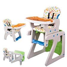 Amazon.com : Pf·Ebro 3-in-1 Convertible Deluxe High Chair with Play Table Conversion for 6 Month to Years Children Baby