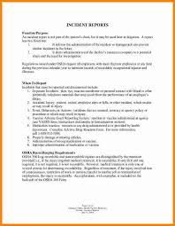 How To Write An Incident Report At Work New Company Driver