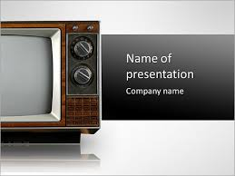tv powerpoint templates retro tv powerpoint template backgrounds id 0000004978
