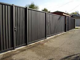 corrugated steel fence panels