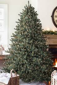 Home Accents Holiday 65 Ft Blue Spruce Elegant Twinkle QuickSet Artificial Blue Spruce Christmas Tree
