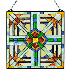 18 mission style southwest stained glass panel
