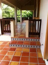 exterior terracotta tile paint. terracotta outdoor patio - love tile. looking for ideas the new house. exterior tile paint pinterest