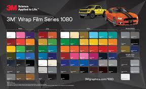 Vinyl Wrap Color Chart 3m Film 1080 Vivid Wraps