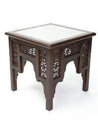 moroccan side table with glass decor in 2019 table moroccan moroccan end table moroccan tray table moroccan end table