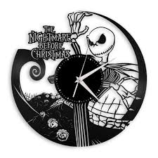 Are you a fan of the nightmare before christmas jack skellington or sally? Nightmare Before Christmas Vinyl Record Wall Clock Jack Skellington Gifts Idea Jack And Sally Room Wall Decor Tim Burton Musical Wall Art Nayancorporation Com
