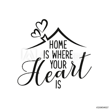 Wall Murals Home Is Where Your Heart Is Typography Poster