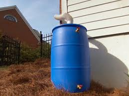 use rain barrels under downspouts to catch run off