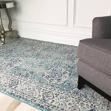 traditional distressed duck egg blue oriental rug vintage boho luxury area rugs