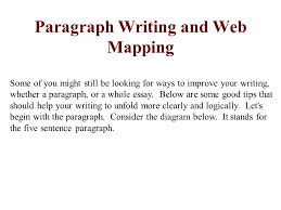 paragraph writing and web mapping ppt video online paragraph writing and web mapping