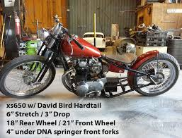yamaha xs650 weld on hardtail frame by david bird straight style