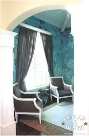 funky anthropologie turquoise venetian plaster living room