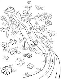 Rapunzel Coloring Pages Disney Tangled Printable Coloring Pages