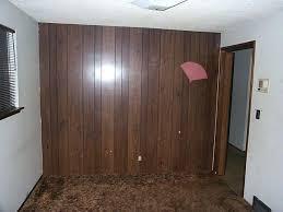 fake wood paneling walls painting