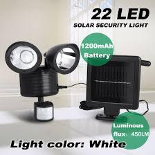 22 led solar powered pir motion sensor security light outdoor garden spot lamp