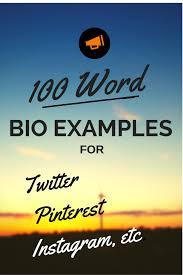 100 Word Bio Examples Biotemplates Com