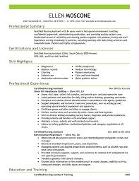 Nursing Assistant Resume Template Certified Nursing Assistant Resume