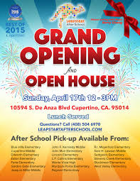 Grand Opening Flyer Magnificent Mayor Barry Chang To Inaugurate Leapstart After School's 48nd