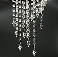 exceptional feet clear acrylic crystal garland strand diamond chandelier centerpieces wedding party decoration decorating cakes with chocolate