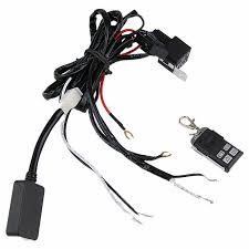 aliexpress com buy hot two lines remote control wire aliexpress com buy hot two lines remote control wire harness offroad led light bar below 120w wiring harness kit fuse and relay dc14v 40a from