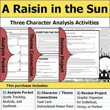 A Raisin In The Sun Character Analysis Chart A Raisin In The Sun Character Analysis Packet Theme Connections Project