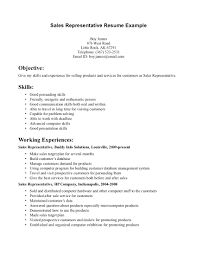 Customer Service Experience Examples For Resume resume Outside Sales Representative Resume 46