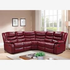 corner sofas with recliners. Perfect With LOTHIAN Corner Sofa Recliner In Cranberry Red Bonded Leather Throughout Sofas With Recliners T