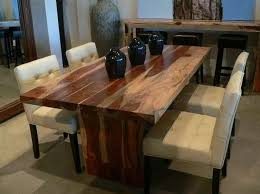 wood table with bench and chairs contemporary dining furniture solid dining table home dining room