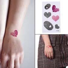 водонепроницаемые временные фальшивые татуировки наклейки розовый