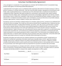 Standard Confidentiality Agreement Forms Free Download In Word Pdf