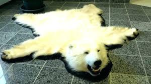 real polar bear rug bear skin rug for faux bear skin rug real fur blanket