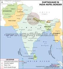 earthquake in delhi ncr, noida nepal 4, march 2011 Nepal India Map earthquake in india nepal border nepal india border map