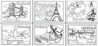 Small Picture Geography Resources Teaching about Europe Worksheets colouring