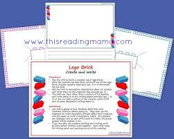create and write legos a descriptive writing activity