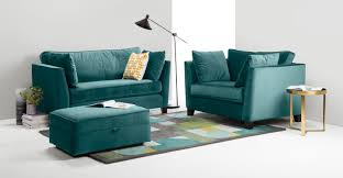 Peacock Colors Living Room Wolseley 2 Seater Sofa Peacock Blue Madecom
