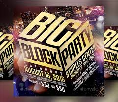 Block Party Flyers Templates 18 Amazing Block Party Flyer Designs Psd Ai Indesign
