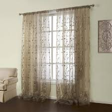 um size of curtain curtain embroidered sheer panels white curtains inches long fabric topfinel embroidered