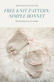 Baby Bonnet Knitting Pattern Interesting Decorating Ideas