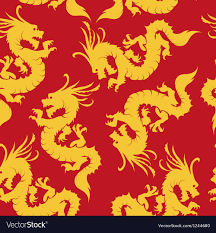 Dragon Pattern Simple Dragons Pattern Chinese Motifs Royalty Free Vector Image